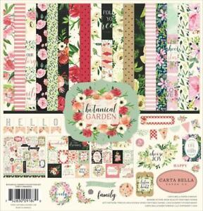 Carta Bella Paper BOTANICAL GARDEN 12x12 Collection Kit Scrapbook Flower fs