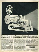 R- Publicité Advertising 1968 Le Projecteur Bifilm Heurtier 8 Plus super 8