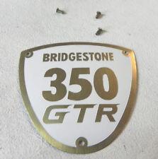 Bridgestone Motorcycle 350 GTR emblem NEW with correct brass rivets 6815-9000