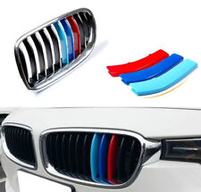 3 pcs M Front Grille Trim Strips Cover performance Stickers for BMW 3/4 Series