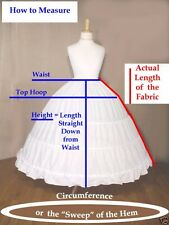 Extra Full Victorian Civil War Reenactment White Cotton Ladies Hoop Skirt