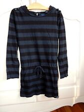 Scotch R'Belle Black/Navy stripes tunic/dress girls size 8