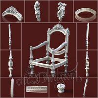 13 3D STL Models Separate Chair for CNC Router Carving Machine Artcam aspire