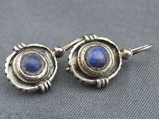 schöne alte Ohrringe Silber Lapislazuli ca. 60er Jahre