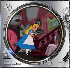 "Alice in Wonderland #1 Slipmat Turntable 12"" LP Record Player, DJ Audiophile"