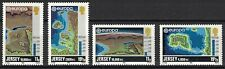 Jersey:1982 Sc#285-88 Mnh Maps showing formation of Channel Islands je203