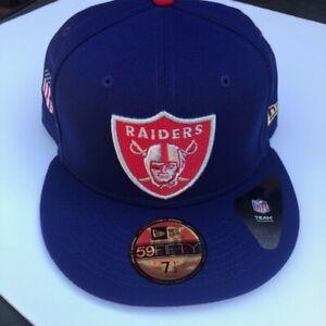 New! New Era Las Vegas Raiders Americana Hat 59Fifty Fitted Tribute USA Nation