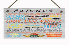 Friends Quotes Hanging Plaque Friendship Gift TV Show Present Best Friend Love