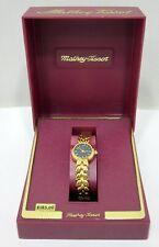 Vintage Mathey Tissot Women's Watch – Gold Tone Bracelet with Black Dial - Mint
