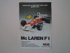 advertising Pubblicità 1976 MCLAREN MC LAREN F1 POLISTIL