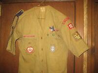 Cape Fear Area Council Wilmington NC 1940s Scout Shirt, Sash, Eagle Patch eb06