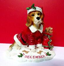 Danbury Mint December Calendar Perpetual Christmas Beagle Dog Figurine