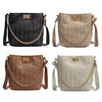 Fashion Straw Weave Women Crossbody Bag Beach Shoulder Messenger Handbags Tote