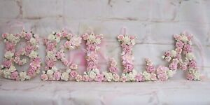 Handmade Hanging Floral  Letter  150 mm size Plaque ANY LETTER Number