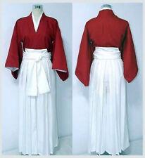 Rurouni Kenshin Himura Kenshin Kendo Kimono Dress Cosplay Costume for Halloween