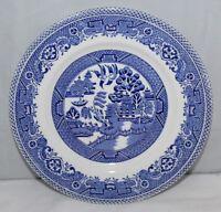 "Myott - Old Willow - 7"" side plate - blue/white transferware - vgc"