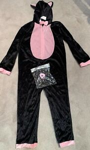 F&F HALLOWEEN BLACK CAT COSTUME WITH NOSE AGE 5-6 YEARS