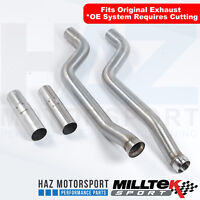 Mercedes C63 AMG 6.2 V8 W204 Milltek Exhaust Secondary Cat Bypass Pipes Decat