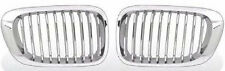 Front Grille Chrome & Silver for BMW 98-02 E46 3-series 2D Coupe Convertible