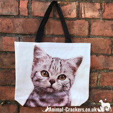 Tabby Cat strong supermarket shopping carrier bag for life cat kitten lover gift