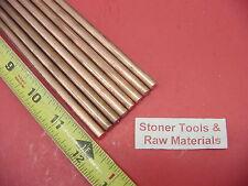 8 Pieces 14 C110 Copper Round Rod 12 Long H04 250 Cu New Lathe Bar Stock