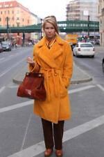 Continent Style Mantel Wintermantel Gr 38 Gelb Teddymantel 70er True Vintage 70s