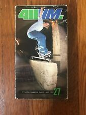 411vm vhs Volume 27 March-April 1998 Skateboarding