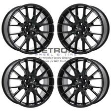 "20"" FORD EDGE  GLOSS BLACK WHEELS RIMS FACTORY OEM 18EDGE20 2015-2019 SET"