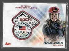 SUPER RARE 2014 TOPPS OLYMPIC ALANA NICHOLS SOCHI PIN CARD ~ ALPINE SKIING GREAT