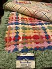 Fashion Manor Vintage Bedroom Rug Multi Colored Cotton JC Penny With Labels