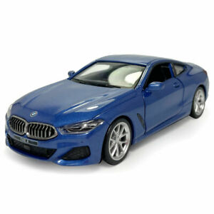 1/35 2018 BMW M850i Coupe Model Car Diecast Kids Toy Vehicle Sound Light Blue