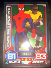 Hero Attax 2014 Marvel Foil - Karte Nr. 32 Power Man & Spider-Man Sammelkarte