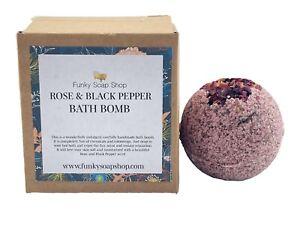 Rose and Black Pepper Bath Bomb, 5cm Diameter