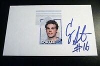 Cory Sauter SIGNED 3x5 Index Card Detroit Lions Minnesota SW Minn St. AUTOGRAPH