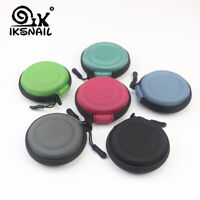 IKSNAIL Hard Case For Headphones Mini Round Bag Earphone SD Card Cable Storage