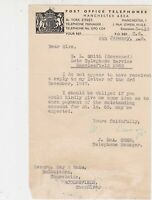 Post Office Telephones 1948 Letter to Solicitors re Deceased Unpaid Bill Rf37141