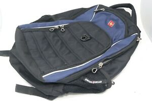 Swiss Gear Airflow Backpack School Black Blue Multiple Compartment Small Laptop