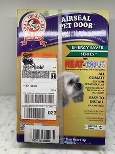 NEW Ideal Airseal Pet Door 6 5/8 in. x 11-1/4 in medium plastic dog asm flap cat