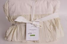 """NWT Pottery Barn Voile bed skirt, queen, 15"""" drop, ivory"""