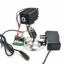 808nm 500mw Infrared IR Focus Dot Laser Diode Module Driver w/12V Adapte +Holder
