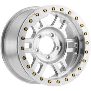 "Vision 398BL Manx Beadlock 17x8.5 5x5"" -15mm Unfinished Wheel Rim 17"" Inch"