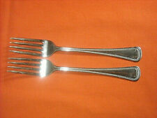 "set of (2) Oneida Oneidacraft ""ZEUS"" Stainless 7 1/4"" Dinner Forks"