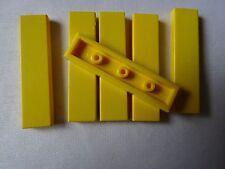 LEGO PART 2431 YELLOW 1 x 4 TILE SMOOTH x 6