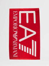 Ea7 Telo mare cotone Maxi Logo Rosso