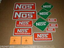 13 Nitro Nitrous Oxide System NOS Original drag racing Hot Rod Decal Sticker Lot