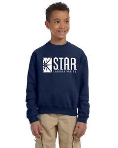 Star Labs Unisex Youth Crew Neck Sweat Shirt The Flash STAR LABORATORIES