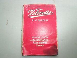 VELOCETTE MOTOR CYCLES  FROM 1933 REPAIR BOOK PRINTED 1956