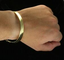 Herringbone Bracelet Men Women 14k Gold Silver Plated Hip Hop Fashion 8 inch