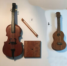 Choice Miniature Wood Handcrafted Handmade Cello or Guitar  Dollhouse scale 1:12