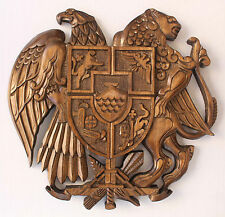 Coat of arms Armenian Handmade Handcrafted walnut Wood Decor Gift Armenia art